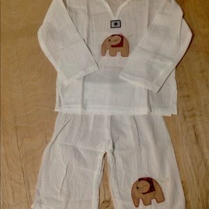 Other - HOST PICK!* Kids Thai Linen Set, Embroidered, NWOT